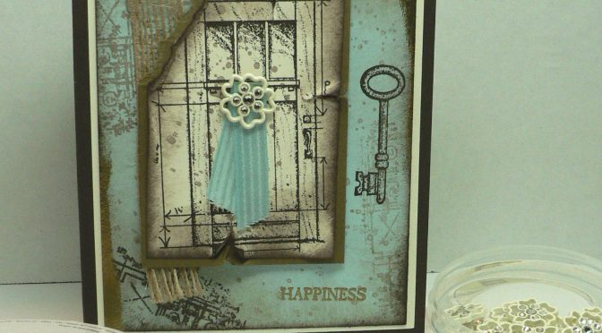Easy Way to Make a Vintage Card, Plus Blog Candy Winner