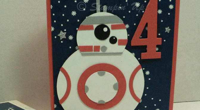 Star Wars handmade Birthday card, PLUS Blog Candy!