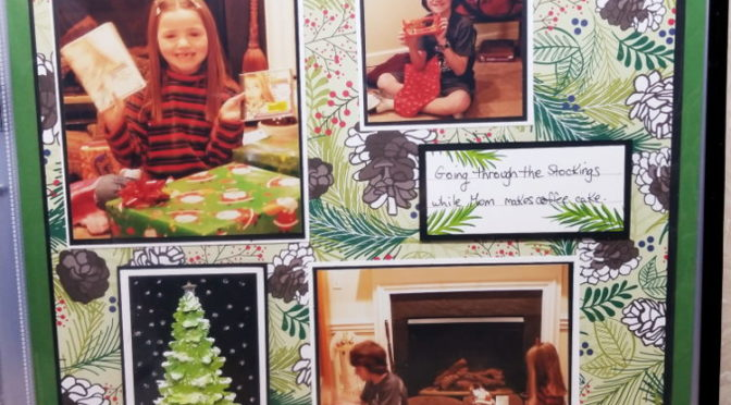 Christmas Scrapbook Pages using Winter Woods