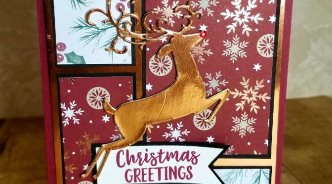 Christmas Card #5 Dashing Deer meets Joyous Noel