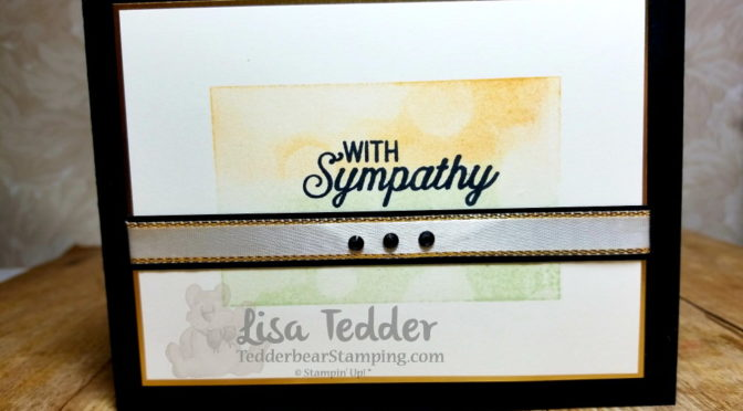 Sympathy card using Bokeh stamp