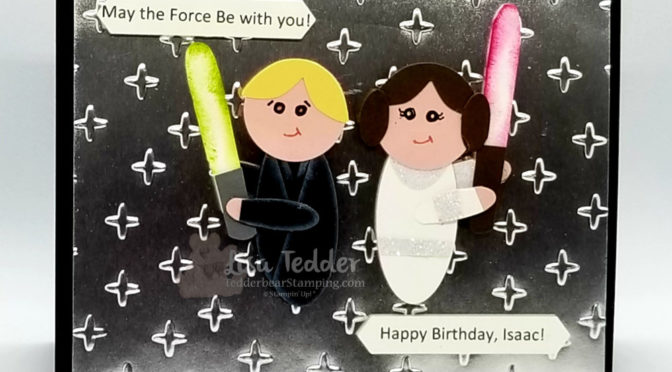 Luke and Leia- My Annual Star Wars Birthday Card for my Grandson