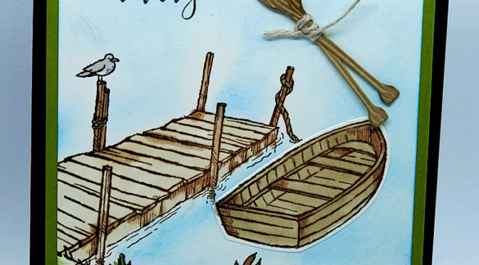 Masculine card By the Dock