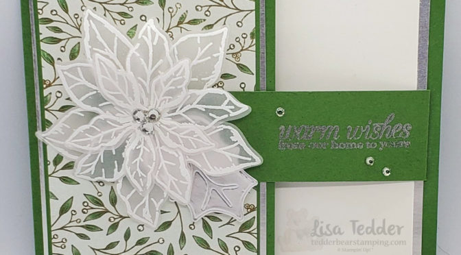 Elegant Christmas Card with Magnetic Closure!
