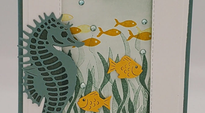 On Live video I'll be using Gold Leafing and Sea Horses