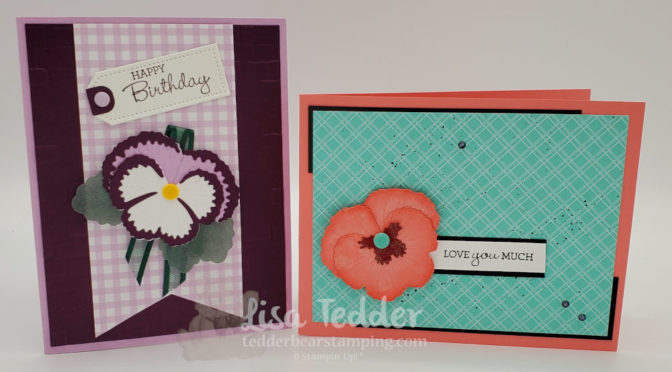 Quick & Easy cards using Pansy Petals